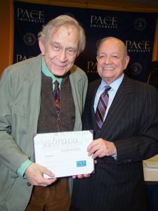 Lee Evans and Pace University's President Stephen J. Friedman
